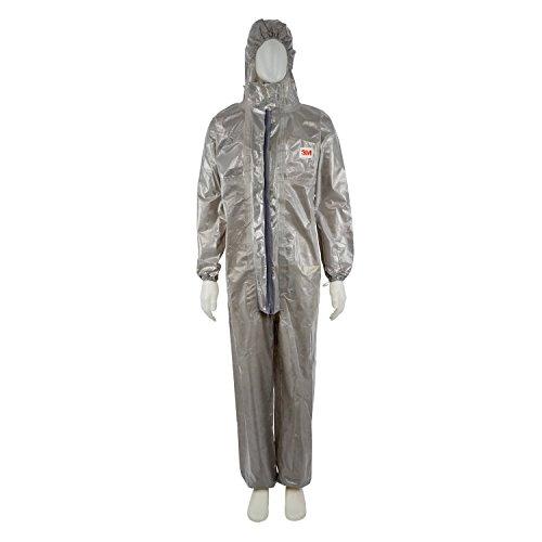 3M 4570 Indumento di protezione 3/4/5/6, PP+PE, cuciture nastrate,Grigio, taglia XL