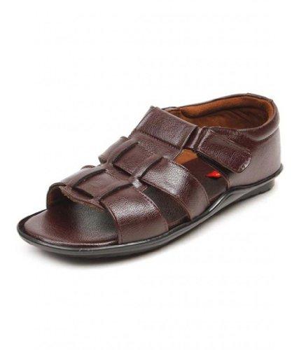 Wave Walk Men's Faux leather Brown Sandals -9
