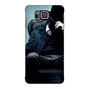 Stylish Sitting Hat Man Back Case Cover for Galaxy Alpha