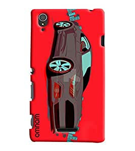 Omnam Car Printed Designer Back Cover Case For Sony Xperia T3
