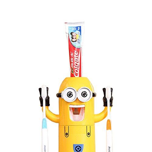 Minion cepillo de dientes dispensador Despicable Me–Vaso para cepillos de dientes automático dispensador de pasta de dientes exprimidor para niños por bellagione