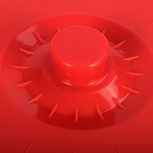 confronta il prezzo iNeibo coperchio in silicone, coperchi sottovuoto Set da 5 di varie dimensioni, perfetti per coprire pentole, padelle, casseruole, tazze miglior prezzo