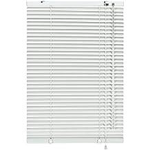 Gardinia 6921 - Persiana (aluminio, 25 mm, 100 x 240 cm), color blanco