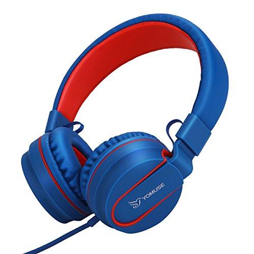 F95 on Ear cuffie pieghevoli archetto regolabile con microfono jack 3.5 mm per  bambini ragazzi e 381d563ad078