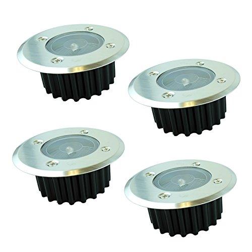 Bid Buy Direct® Set of 4Solar LED Post Deck Lights–Außen LED Einbaustrahler, einfach in die Boden | ideal für Treppen, Wege, Wände und Zaunpfähle–perfekte Outdoor Solar Powered LED Lichter.