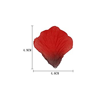 Ldoux 2000pcs Diy Fake Silk Rose Petals Confetti For Proposal Wedding Bed Decorations, Dark Red 2