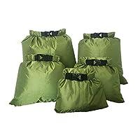CAILI 5 Pcs Set Waterproof Dry Bag,Waterproof Storage Pouch Bag Outdoor Beach Sack Travel Drifting Swimming Snorkeling Bag, for the Beach, Boating, Fishing, Kayaking, Swimming