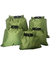 CAILI Dry-Bag,Wasserdichte Tasche driften,wasserfeste Tasche,5 Stück Set wasserdichter Packsack leicht, Ultra-Light, für Schwimmen Bootfahren Kajak Wassensport Treiben