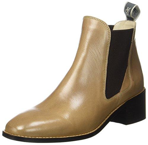 Marc O'Polo Damen Mid Heel Chelsea 70714165101101 Boots, Braun (Taupe), 40.5 EU