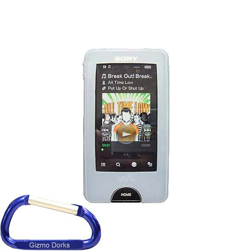 Premium Clear Silicone Skin Case Cover with Free Carabiner Key Chain for the Sony Walkman X Series (NWZ-X1051 NWZ-X1061) MP3 Player  available at amazon for Rs.1649