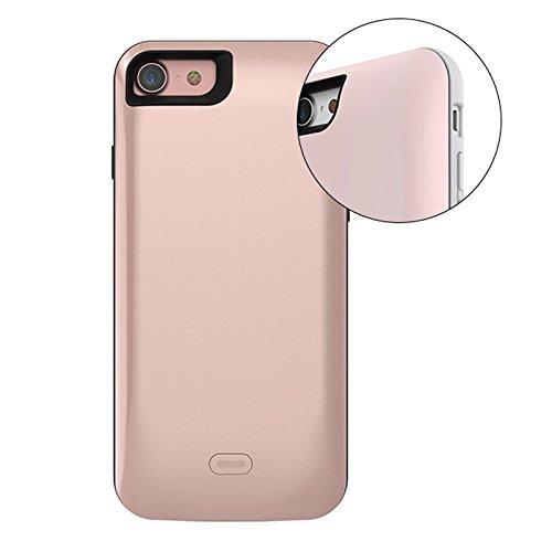 """Imixcity® Portable Ultra Rallonge Téléphone-Coque Batterie-Coque Fine avec Batterie Rechargeable pour iPhone 6/6S Plus (pour iPhone 7 Plus 5.5"""", Or) Or rose"""