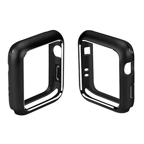 LCLrute Magnetic Frame Watch Case Protective Cover for Apple Watch iWatch Series 4 40mm/44mm (44mm, Schwarz)