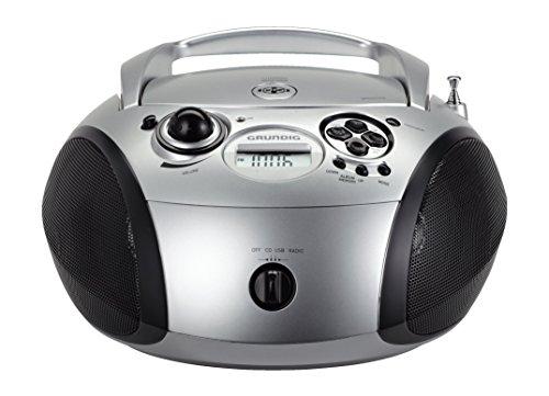 Grundig GRB 2000 Tragbare Radio Boombox silber/schwarz