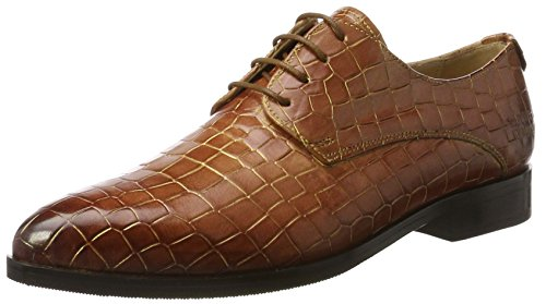 Melvin & Hamilton Jessy 5, Scarpe stringate Donna Braun (Croco Woody + Gold Finish, Hrs)