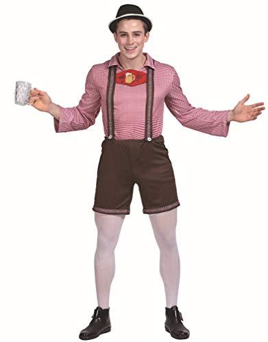 Deutschen Mann Lederhosen Kostüm - JANDZ Karnevalskostüm. Männliches Oktoberfest-Kostüm. Adult Lederhosen