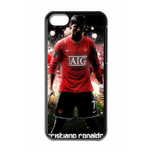 Cristiano Ronaldo coque iPhone 5C Housse téléphone Noir de couverture de cas coque EBDXJKNBO16194