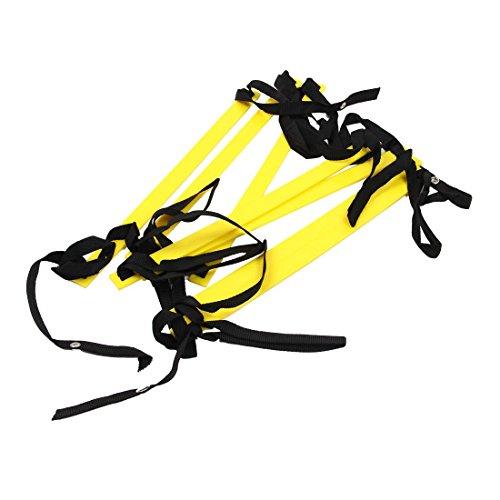 XZANTE 10 Fuesse Agilitaet Speed Leiter Leiter Trainingsleiter Schnell 7 Flache Sprosse Speed Leiter-Gelb