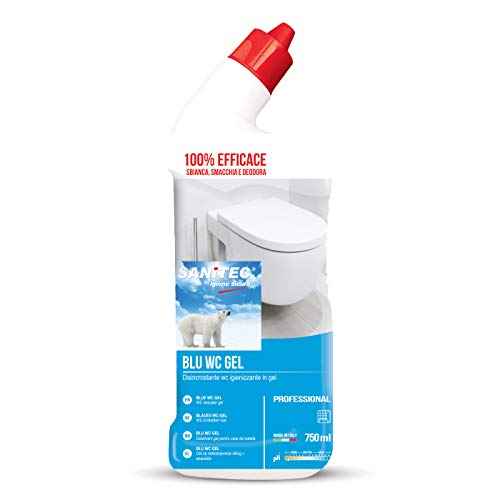 Sanitec Blu Wc Gel, Detergente Disincrostante per WC, 750 ml