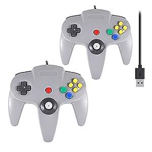 QUMOX 2x Nintendo 64 N64 SPIELE CLASSIC GAMEPAD CONTROLLER FÜR USB PC MAC