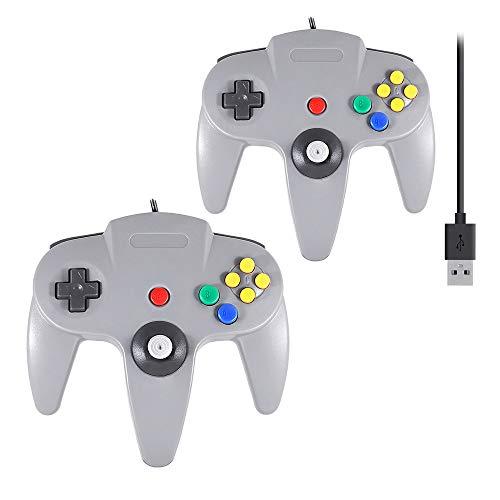 QUMOX 2 x Gaming USB Mando Controlador Gamepad Cable