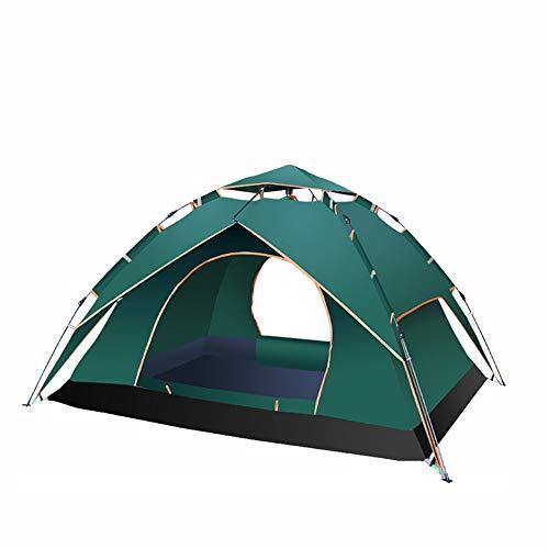 Ice-Beauty-ukzy Dome/Familienzelt für Strand, grünes Gras, wasserdicht, feuchtigkeitsbeständig, Sonnenschutz, 1-4 Personen sammeln Camping Picknick grün Ice Dome