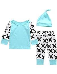 Baby Girl Pyjamas Set Newborn Infantil Camisa de manga larga Top y pantalón y sombrero 3 piezas Homewear
