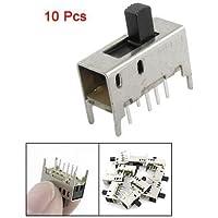 DealMux 10 Pcs 8 Pin 3 Position 2P3T DP3T PCB Mount Mini Vertical Slide Switch