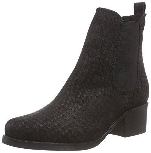 Virus 25735 Damen Chelsea Boots Schwarz (Croc ACM preto)