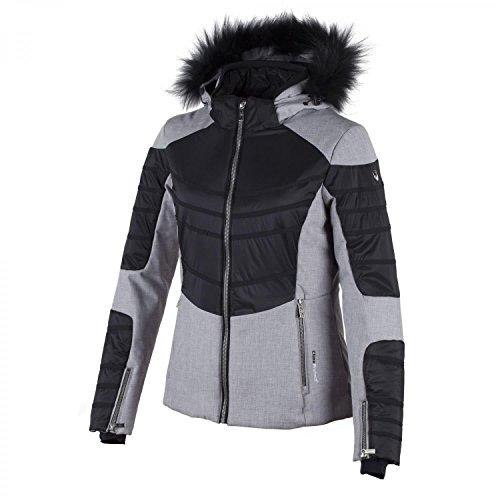 CMP Damen Skijacke Stretch Zip Hood 3W03866M Argento Melange 38