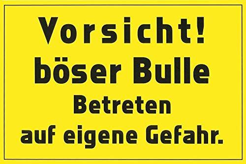 Warnschild - Vorsicht Böser Bulle - Gr. ca. 30x20cm - Landwirtschaft Tiere - 308582