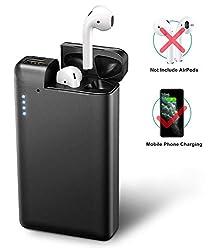 Cocoda 2 in 1 Powerbank für Airpods 2 & Airpods 1 [70-80 Mal Auflade] und Smartphones (Gerät Nicht Inklusiv), 10000mAh Tragbar Externer Akku für iPhone, iPad & Samsung