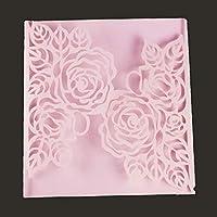 wiFndTu Cutting Dies, Leaf Flower Metal Cutting Dies DIY Scrapbook Greeting Cards Embossing Template - Silver