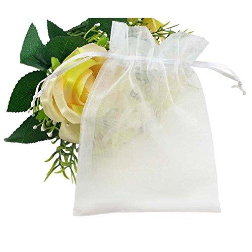 c0d040d80 Sungpunet - 100 bolsas de organza con cordón para regalo de boda,.