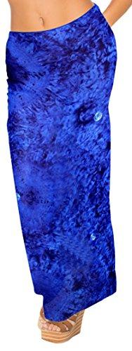 Chiffon Tie Dye (La Leela leichte schiere coverup tie dye Chiffon Strand 78x39 Zoll blau Sarong)