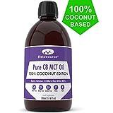 C8 MCT Aceite Puro | 100% Coconut | Produce 3 X Más Cetonas Que Otros MCT Aceites | Triglicéridos de Acido Caprílico | Paleo y Vegano Amistoso | Botella Sin BPA | Ketosource