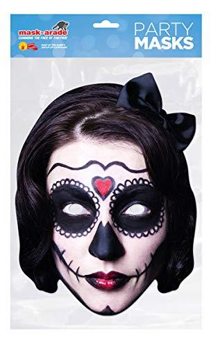Spanische Lady Kostüm - labreeze Day of the Dead Spanische Lady Karte-Gesichtsmaske Halloween gruselige Party Maske
