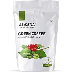 Aloena Green Coffee Beans- Natural and Premium Arabica Grade AAA 150 GM (5.29 OZ)