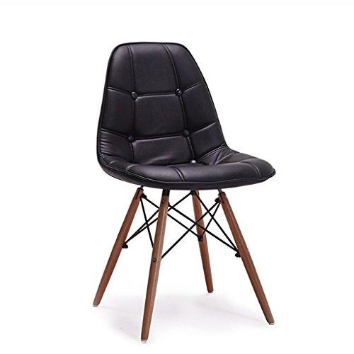 MUTANG Pu Leder Leder Lounge Stuhl Pu Leder Stoff Kissen Buche Beine für Schlafzimmer Wohnzimmer Lounge Modern Home, schwarz, grün, rot, weiß (Farbe : Schwarz) - Rote Moderne Lounge-stühle