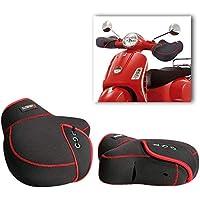 Winter Motorrad Lenker Handschuhe Lenkerstulpen warm Motorradlenker Stulpen Winddichte Motorradstulpen Lenkerhandschuhe (Schwarz)