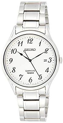 Seiko Reloj Analógico para Hombre de Cuarzo con Correa en Acero Inoxidable SGEH73P1