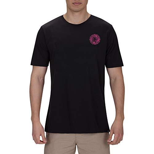 Hurley M Wormhole tee Camisetas, Hombre, Black, L
