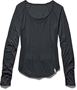Under Armour Fly By T-Shirt manches longues de running Femme Noir FR : XS (Taille Fabricant : XS)