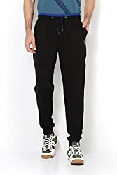 Van Heusen Mens Cotton Track Pants (8907670037744_50045_BLACK_S)