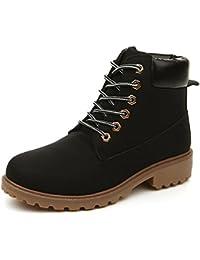 Chaussures automne à élastique Smilun marron Casual fille N1bZtD8R