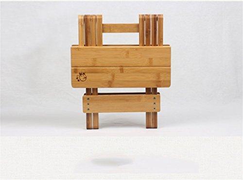 Sgabello In Legno Pieghevole : Lhl wooden stool bambù sgabello pieghevole portatile solido legno