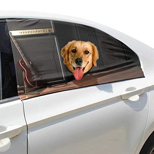Plsdx Gitarre Musik Fan Haustier Hund Sicherheit Autoteil Fahrzeug Auto Fenster Zaun Vorhang Barrieren Protector Für Baby Kind Sonnenschutz Abdeckung Universal Fit SUV