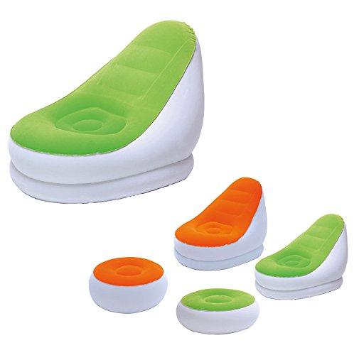 Preisvergleich Produktbild Bestway Luftsessel Comfort Cruiser mit Hocker orange