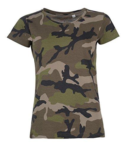SOLs Damen Camouflage Army Tarn T-Shirt, Gr. L
