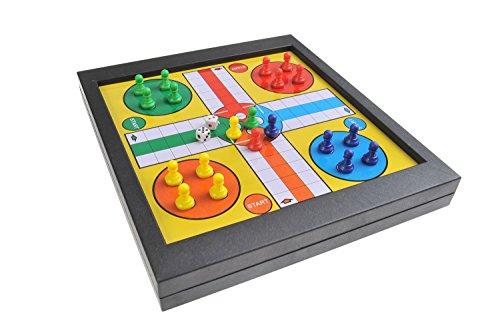 Magnetisches-Brettspiel-2-in-1-Standard-Gre-Ludo-Leiterspiel-Schlangen-und-Leitern-Snakes-and-Ladders-magnetische-Spielsteine-23cm-x-205cm-x-27cm-Mod-SC6706-DE