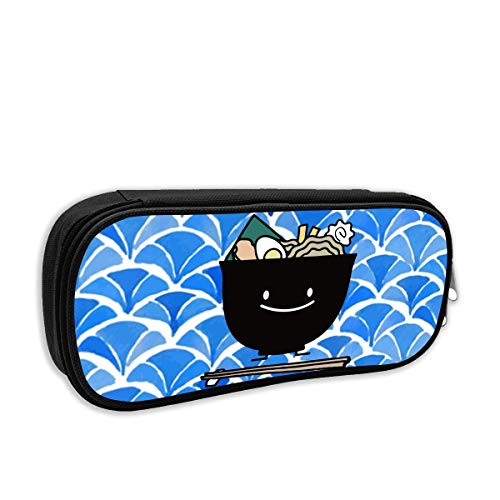 Happy Ramen Bowl Pencil Case Pouch Bag Multifunction Cosmetic Makeup Bag School Office Storage Organizer -